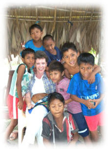 Sherry with Kuna children